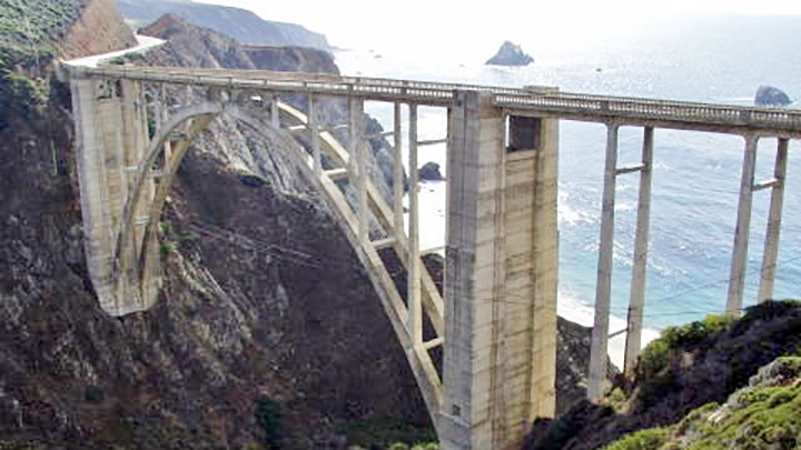 Bixby Bridge Hwy 1 Big Sur filming location in Monterey County