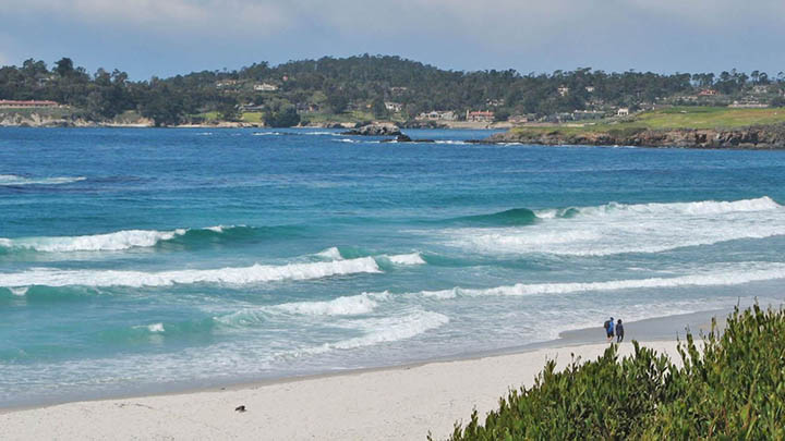 Carmel Beach filming location in Monterey County