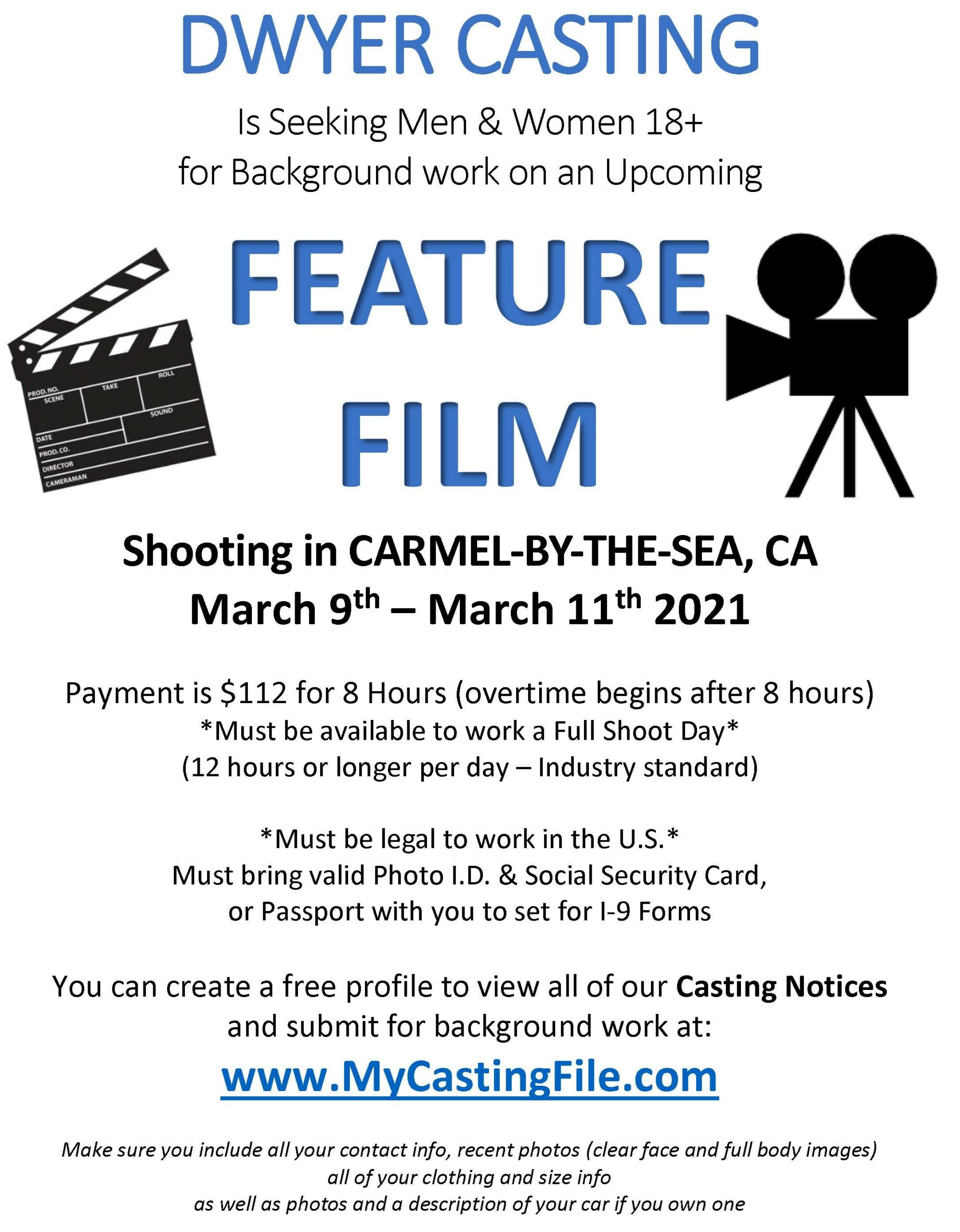 Dwyer Casting Call