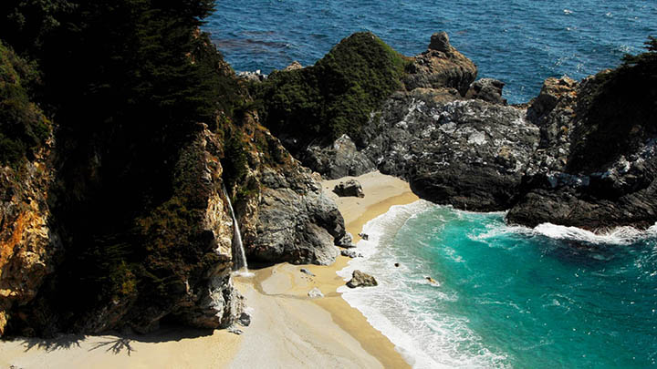 Julia Pfeiffer Burns State Park filming location in Monterey County