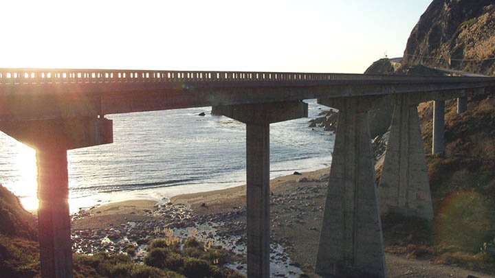 Limekiln Creek Bridge filming location in Monterey County