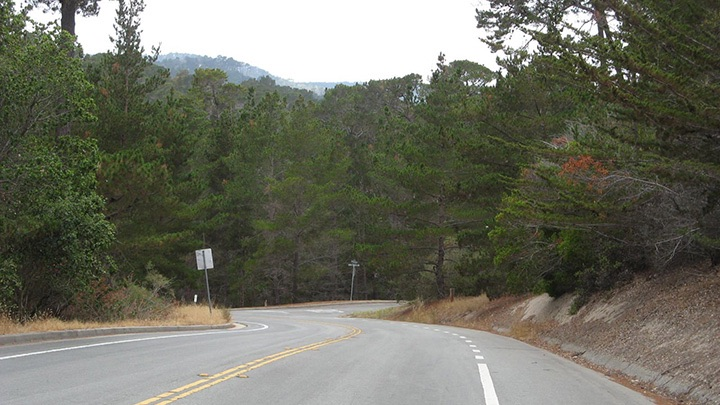 Monhollon Road filming location in Monterey County