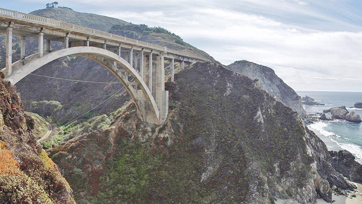 Rocky Creek Bridge filming location in Monterey County